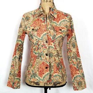 Analogy Floral Textured Jacket